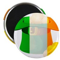 "Irish Hat Flag Colors 2.25"" Magnet (100 pack)"