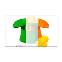 Irish Hat Flag Colors Rectangle Car Magnet