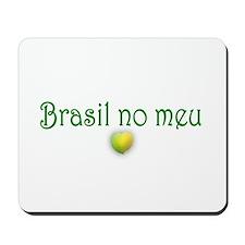 BRASIL NO MEU CORACAO Mousepad