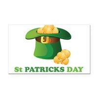 St Patrick's Day Hat Rectangle Car Magnet