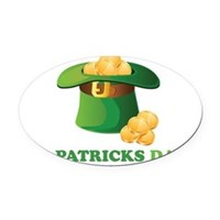 St Patrick's Day Hat Oval Car Magnet