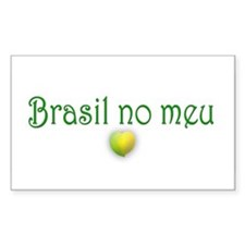 BRASIL NO MEU CORACAO Rectangle Decal