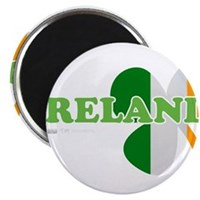 "Ireland Clover Flag 2.25"" Magnet (100 pack)"