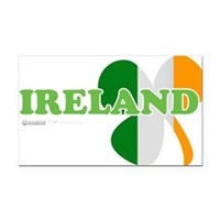 Ireland Clover Flag Rectangle Car Magnet