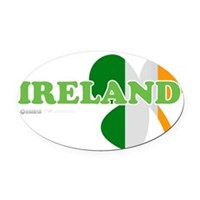 Ireland Clover Flag Oval Car Magnet