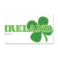 Ireland Lucky Clover Rectangle Car Magnet
