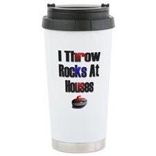 Cute Curling rock Travel Mug