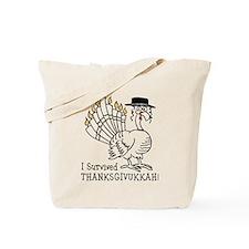 I Survived Thanksgivukkah! Tote Bag
