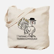 I Survived Thanksgivukkah! Tote Bag