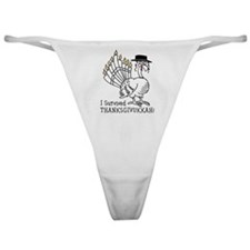 I Survived Thanksgivukkah! Classic Thong