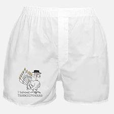 I Survived Thanksgivukkah! Boxer Shorts