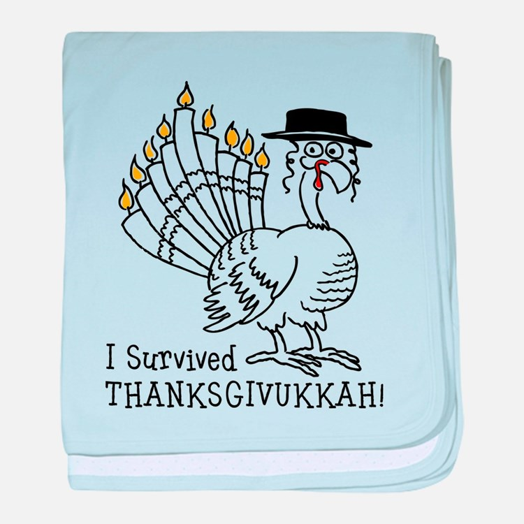 I Survived Thanksgivukkah! baby blanket
