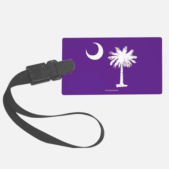 SC Palmetto Moon State Flag Purple Luggage Tag