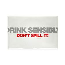 Drink Sensibly! Rectangle Magnet (10 pack)