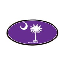 SC Palmetto Moon State Flag Purple Patches