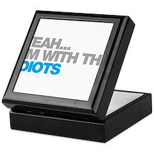 I'm With The Idiots Keepsake Box