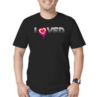 Loved Men's Fitted T-Shirt (dark)