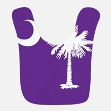 SC Palmetto Moon State Flag Purple Bib