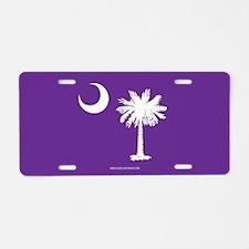 SC Palmetto Moon State Flag Purple Aluminum Licens