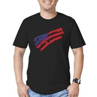 Graffiti USA Flag Men's Fitted T-Shirt (dark)