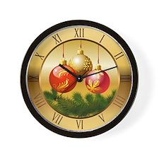 Xmas Balls Wall Clock