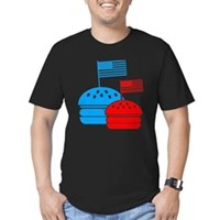 American Flag Burger Men's Fitted T-Shirt (dark)