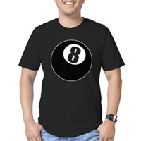 8 Ball Men's Fitted T-Shirt (dark)