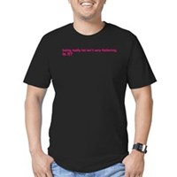 Being Fat... Men's Fitted T-Shirt (dark)