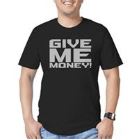 Give Me Money Men's Fitted T-Shirt (dark)