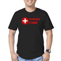 I'm Nursing A Semi Men's Fitted T-Shirt (dark)