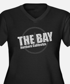 The Bay (cities) Women's Plus Size V-Neck Dark T-S