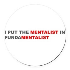 Cute Anti fundamentalist Round Car Magnet