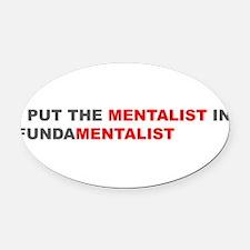 Cute Anti fundamentalist Oval Car Magnet