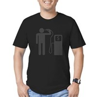 Petrol Gun To The Head Men's Fitted T-Shirt (dark)
