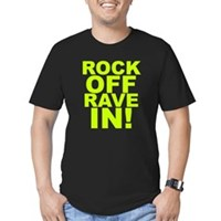 Rock Off Rave In Men's Fitted T-Shirt (dark)