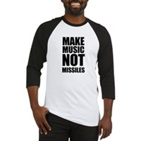 Make Music Not Missiles Baseball Jersey