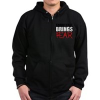 Knowledge Brings Fear Zip Hoodie (dark)
