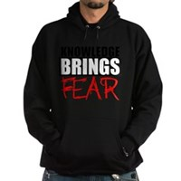 Knowledge Brings Fear Hoodie (dark)