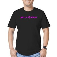 You're All Whores Again Men's Fitted T-Shirt (dark