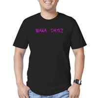 Wana Date? Men's Fitted T-Shirt (dark)