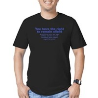 The Right To Remain Silent Men's Fitted T-Shirt (d