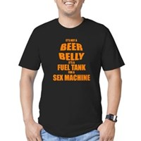 Beer Belly Men's Fitted T-Shirt (dark)