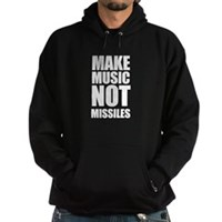 Make Music, Not Missles Hoodie (dark)