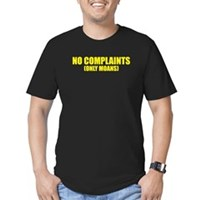 No Complaints, Only Moans Men's Fitted T-Shirt (da