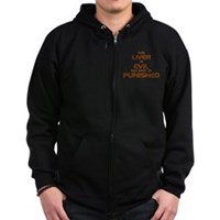 The Liver Is Evil! Zip Hoodie (dark)