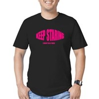 Keep Staring Men's Fitted T-Shirt (dark)
