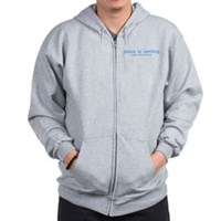 Quick, hide the porn! Zip Hoodie