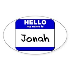 hello my name is jonah Oval Decal
