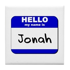 hello my name is jonah  Tile Coaster