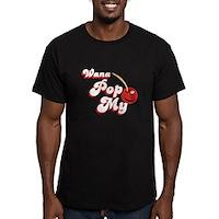 Wana Pop My Cherry? Men's Fitted T-Shirt (dark)